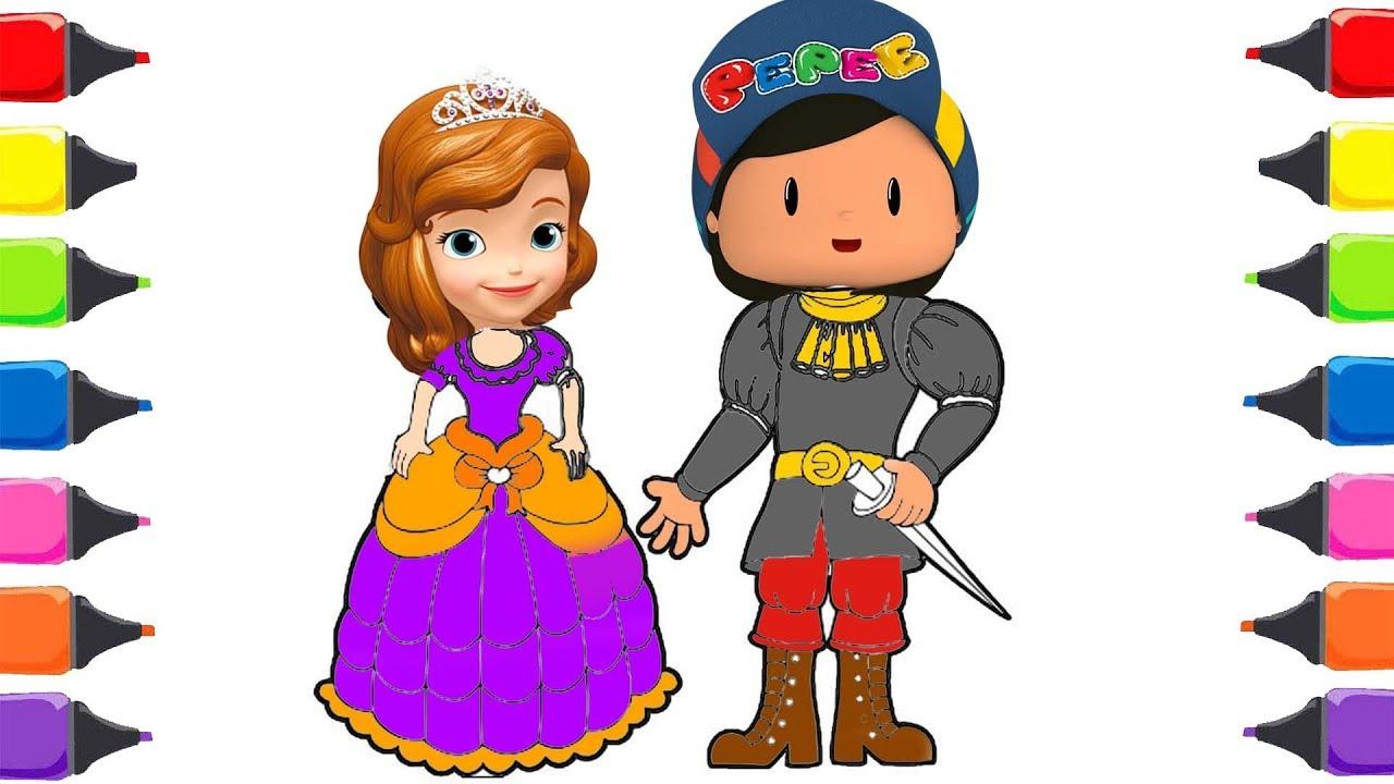 Prenses Sofia Pepe çizgi Film Boyama Sihirli Kalemler Youtube