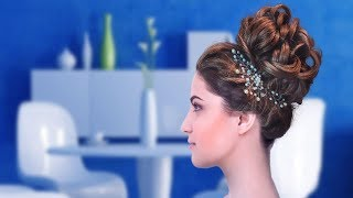 Loose Bun Hairstyle for Wedding & Prom