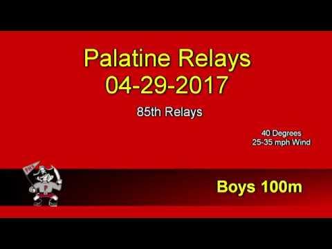 2017-04-29 Palatine Relays - Boys 100m - Courtland Cornelius