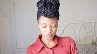 Checking in | Protective Style #1 + Hot Oil Treatment DIY