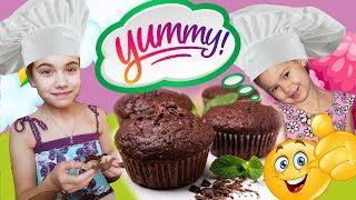 Шоколадные МАФФИНЫ ЗА 15 МИНУТ | Классический рецепт от JustFamily Kids #видеодлядетей