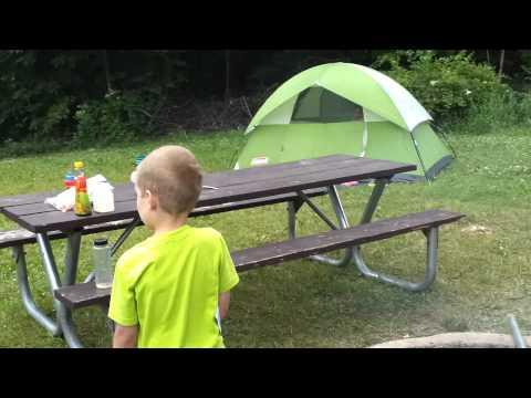 Campsite tour: Wabasis Lake Campground