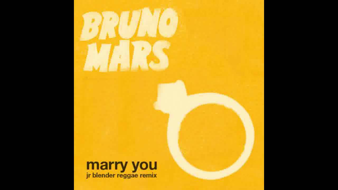 Bruno Mars - Marry You (Jr Blender Reggae Remix) - YouTube