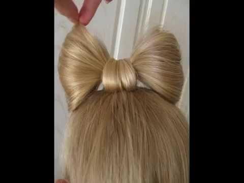 Причёска-бантик. Шаг за шагом. - Hairstyle-bow. Step by step.