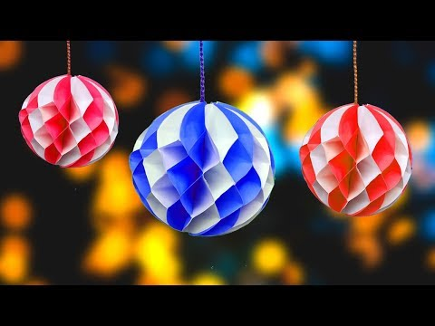 How to make a Paper Honeycomb Ball Easy tutorial | Paper Crafts