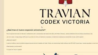 TRAVIAN CODEX VICTORIA BETA CERRADO, REGALANDO CÓDIGOS.