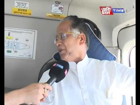 Pratidin Time: CM Tarun Gogoi interview on Helicopter with Rajdeep Bailung Baruah