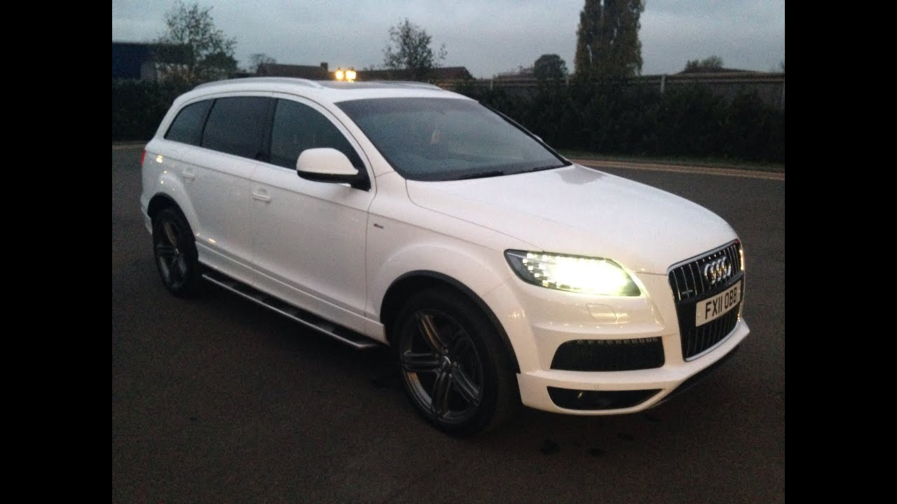 Audi q7 3 0 tdi s line - Audi Q7 2011 3 0 Tdi White Panoramic Roof S Line 21 Alloys Review Youtube