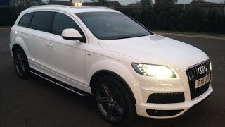 audi q7 2011 3 0 tdi white panoramic roof s line 21 alloys review