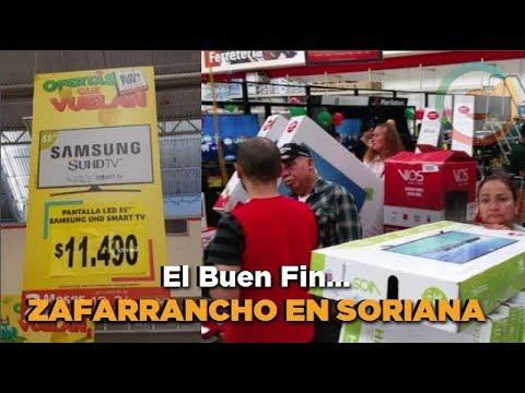 Trifulca durante #ElBuenFin, Soriana pone a la venta pantallas de 2.39 a 11.49 pesos en #Chihuahua