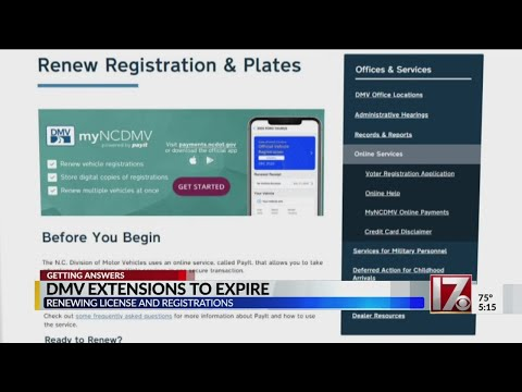 Time To Renew: NCDMV License, Registration COVID-19 Renewal Extension Coming To An End