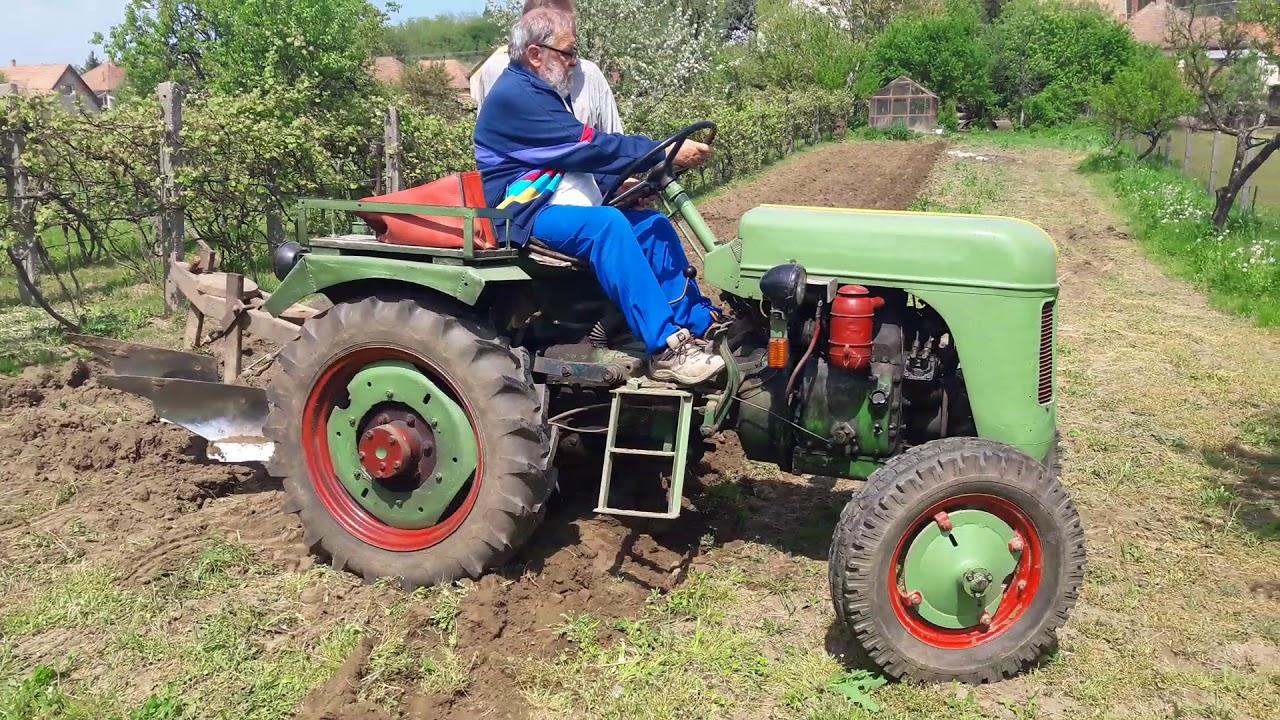 Bautz oldtimer traktor #5 Munkában a gép