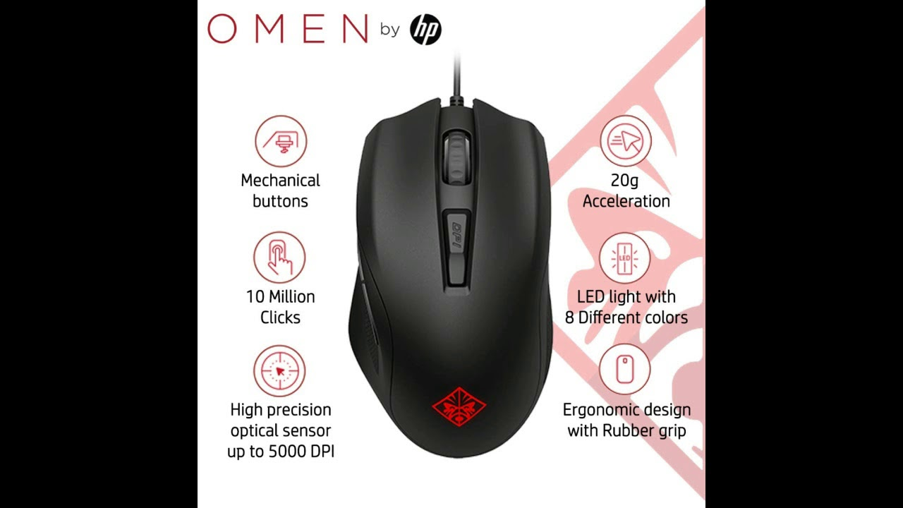HP 400 OMEN Gaming Mouse with 6 Customizable Buttons