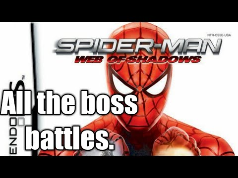 Spider-Man Web Of Shadows (DS) All The Boss Battles.