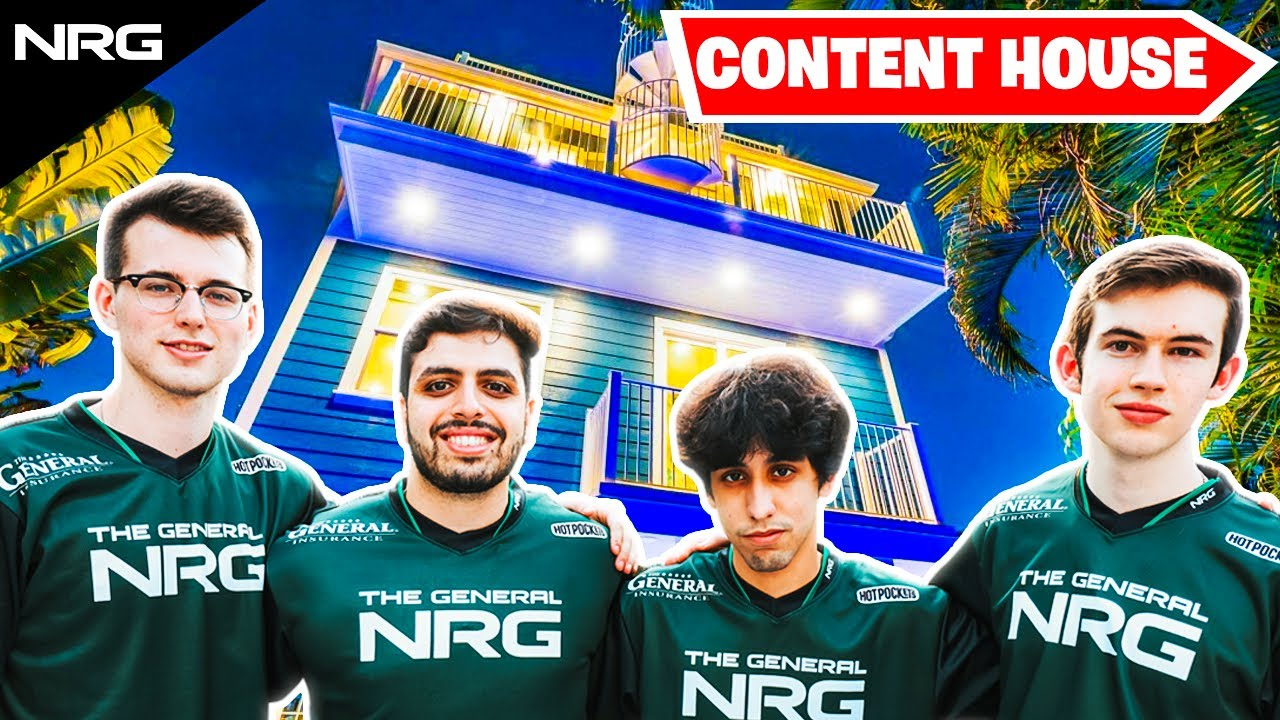 The New NRG Rocket League Content House | Musty, JSTN, GarrettG, & Sizz
