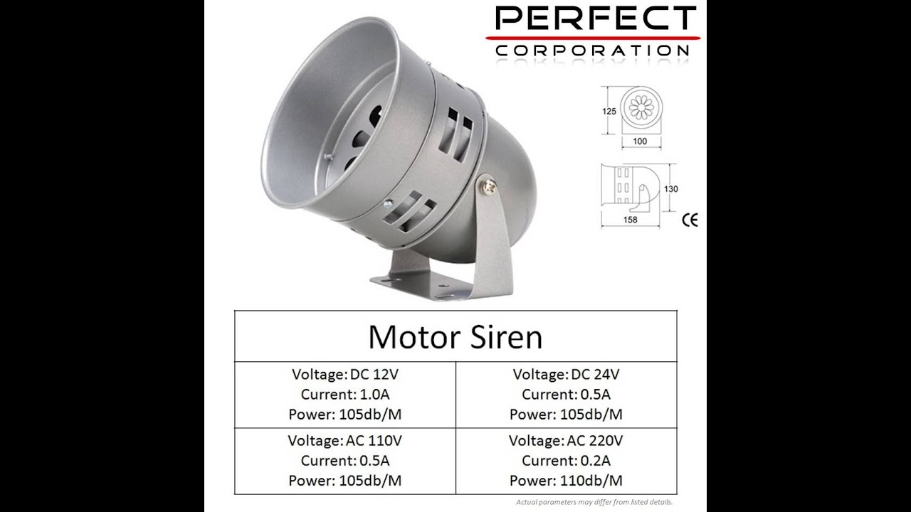 Sirene Alarme Exterieur 220v Electrically Operated Motor Siren 220v Ac 12v 24v Supply