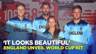 England players react to new World Cup kit
