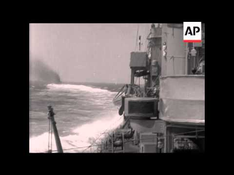 DESTROYERS AT SPEED - DEPTH CHARGES NAVAL STOCK SHOTS NO 10 - MUTE