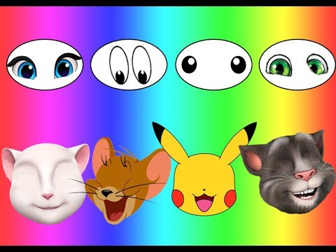 Thumbnail: Colors for children Wrong Eyes Bad Baby Jerry Talking Tom And Friend Angela Pikachu Family Song