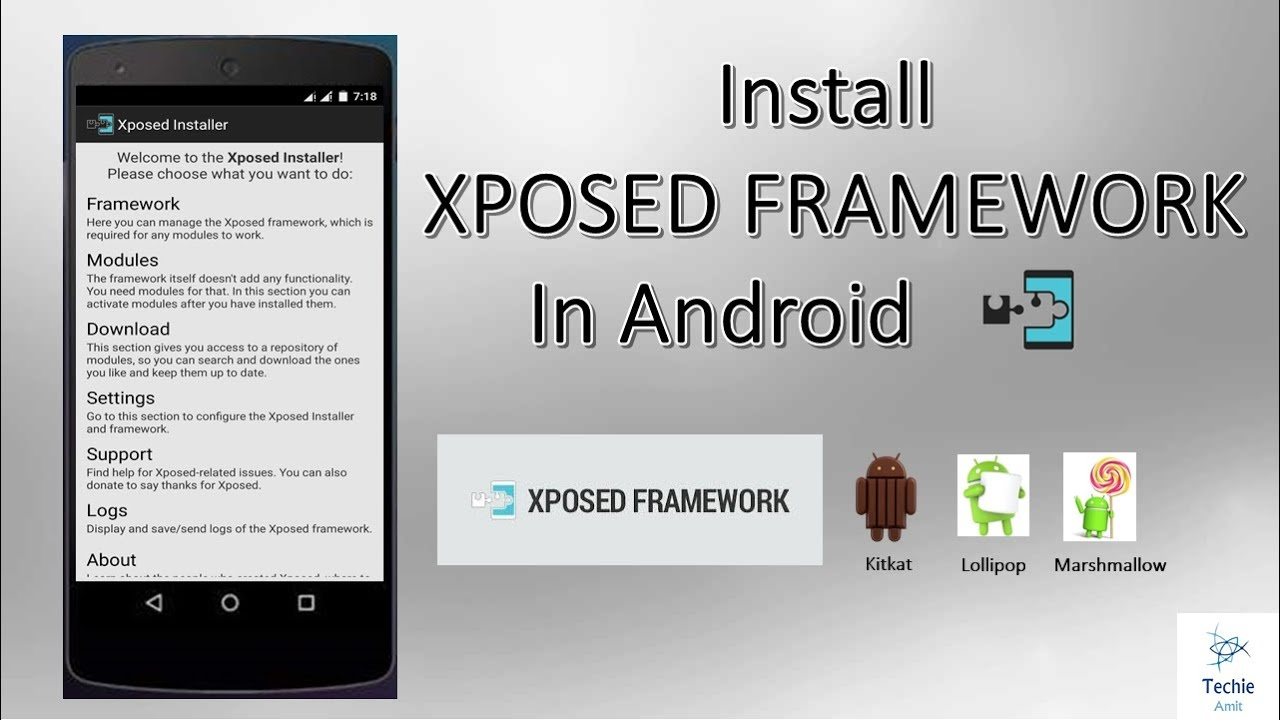 Install Xposed Framework On Android Running Kitkat, Lollipop, Marshmallow