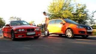 VW Golf Turbo FWD vs BMW E36 3.0 (stroker)