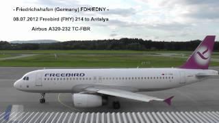 freebird a320 232 tc fbr at friedrichshafen airport hd