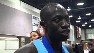 Lopez Lomong After Winning 1500 At 2014 US Indoor Champs