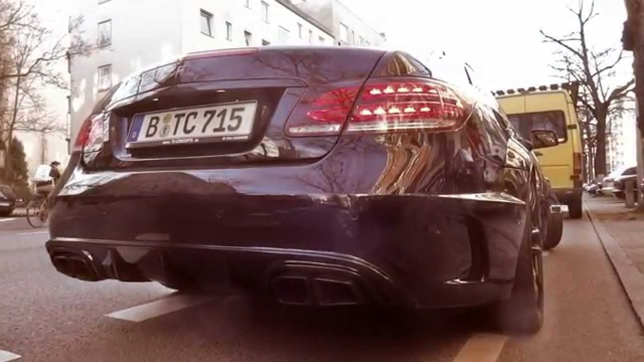 Mercedes E500 Biturbo Sport Exhaust Sound by TC-Concepts EXESOR widebody