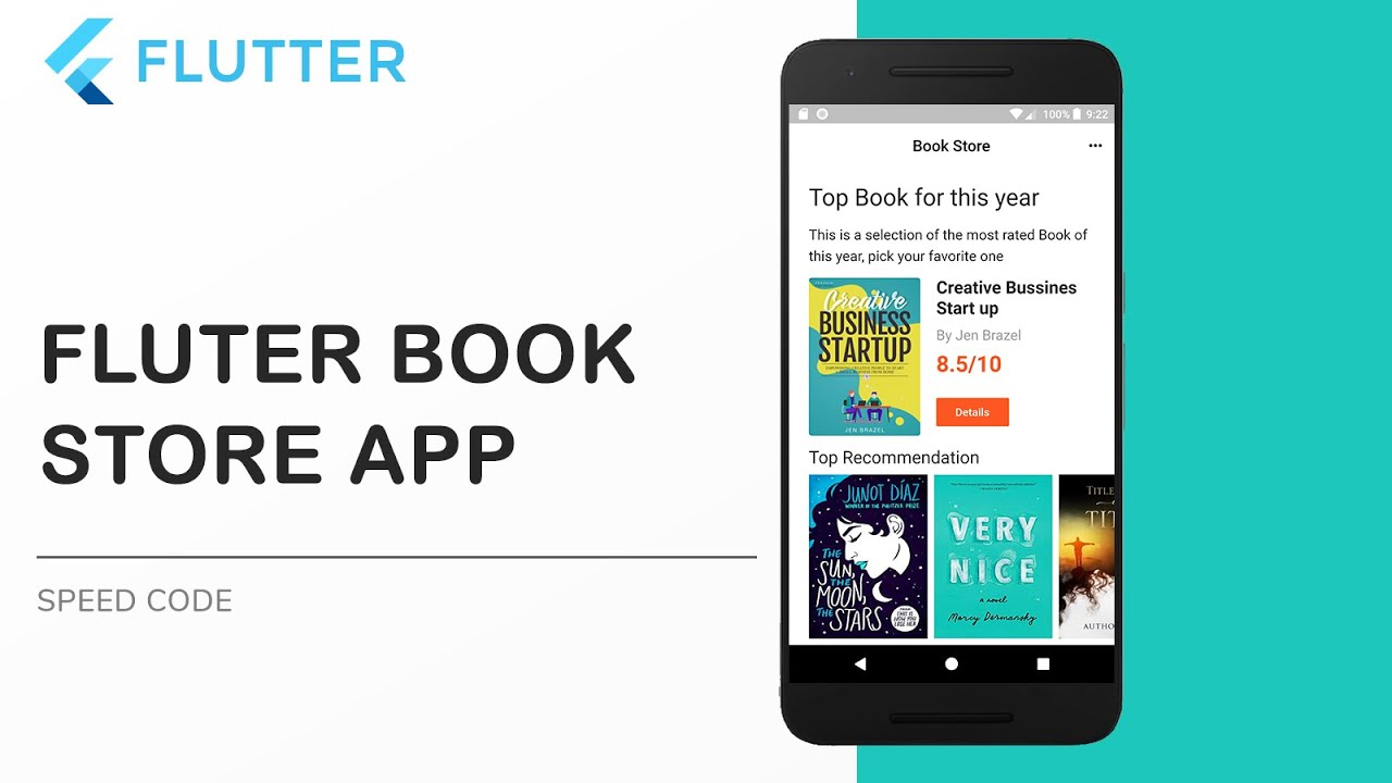 Flutter UI  Book Store App using Flutter and Android Studio