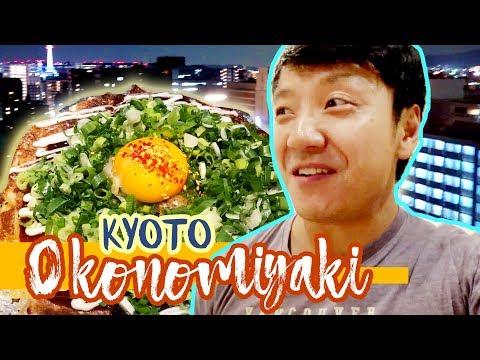 "Heavenly OKONOMIYAKI ""Japanese Pizza"" & YAKISOBA in Kyoto Japan"