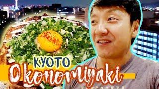 "Heavenly OKONOMIYAKI ""Japanese Pizza"" & YAKISOBA in Kyot..."