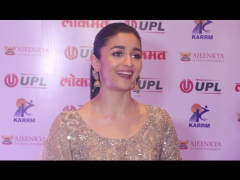 Alia Bhatt Interview At Lokmat Maharashtrian Of The Year Awards 2017