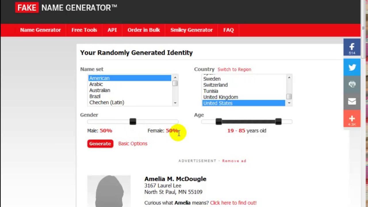 Fake Name Generator | How to use Fake Name Generator 2019