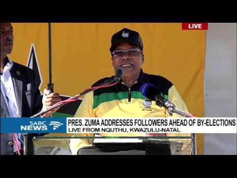 Pres. Zuma address speech at Siyanqoba Rally in Nquthu, KZN