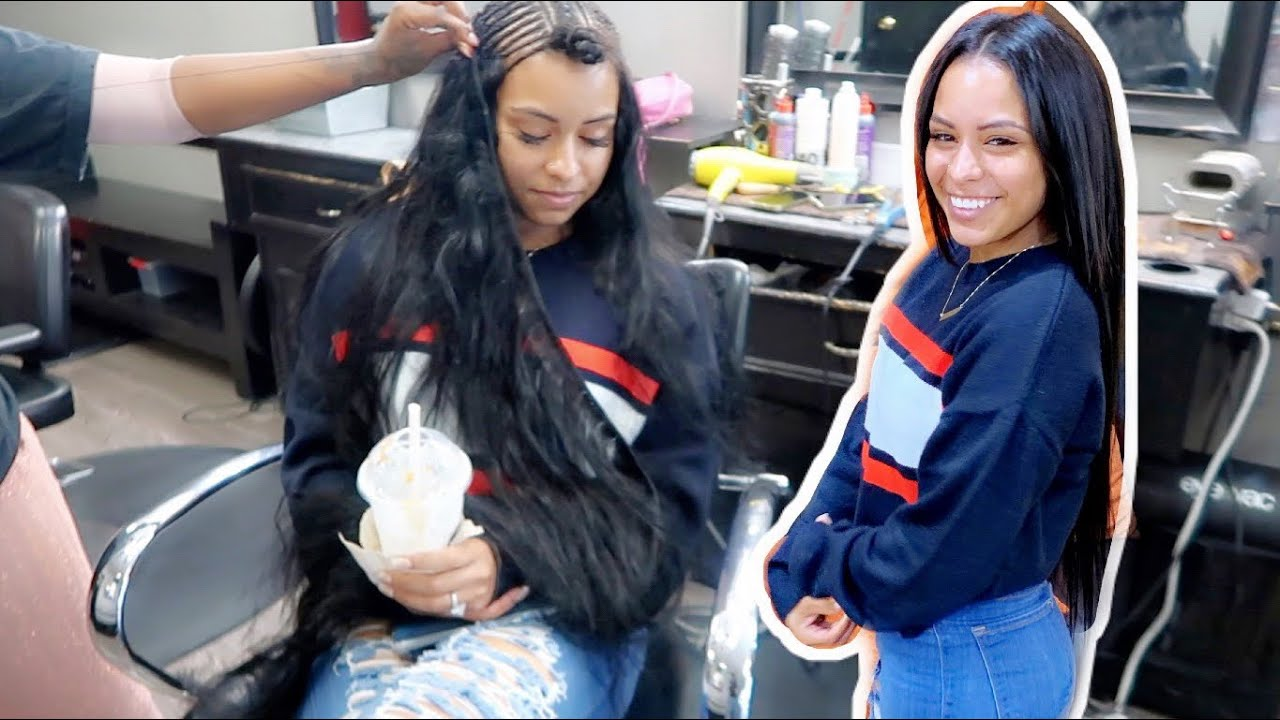 HER FIRST WEAVE!!!