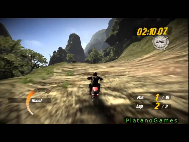 Motorstorm Pacific Rift - Racing With Bike - Crazy Final Lap - Full Race + Free Run At End - HD