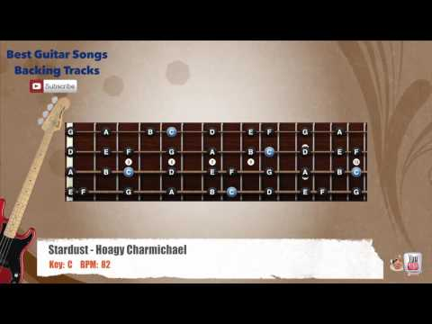 Stardust - Hoagy Charmichael Bass Backing Track with scale, chords and lyrics