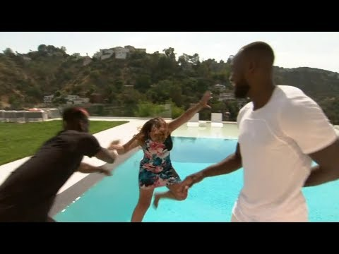 Pogba Throws Female Reporter In The Pool! 😂😂 Interview With Pogba & Lukaku