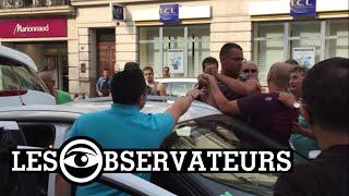 Violences des chauffeurs de taxis sur des conducteurs UberPop à Marseille - FRANCE