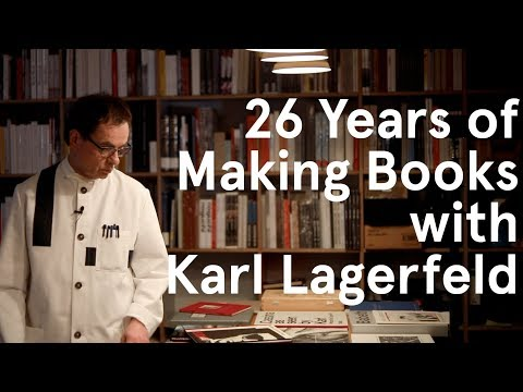 26 Years Of Making Books With Karl Lagerfeld