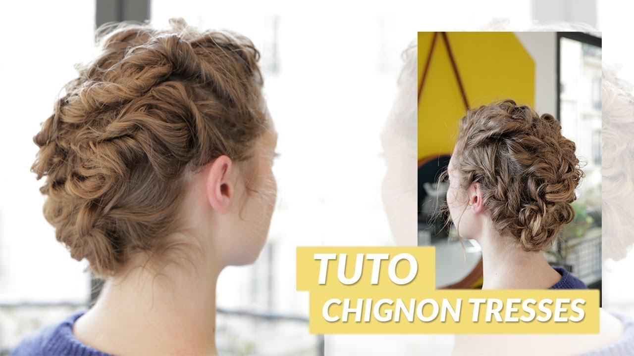 TUTO CHIGNON TRESSES 👱♀️ - YouTube