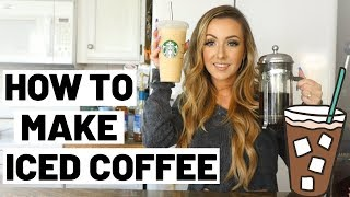 DIY ICED COFFEE AT HOME | ICED COFFEE RECIPE