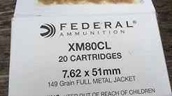 7.62x51mm, 149gr FMJ, Federal Ammunition (XM80CL) Velocity Test
