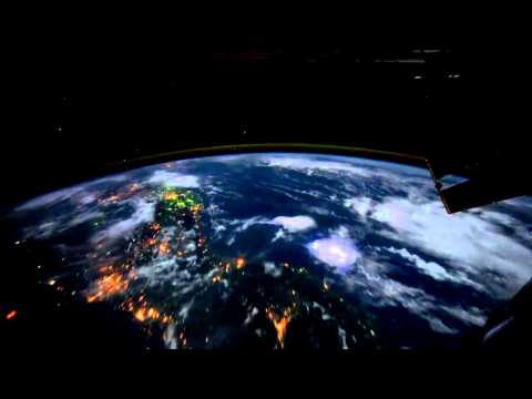 Northwest Coast of United States to Central South America at Night