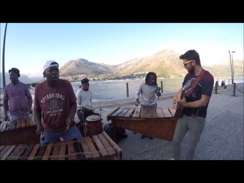 Tourist Jams With Buskers in Cape Town