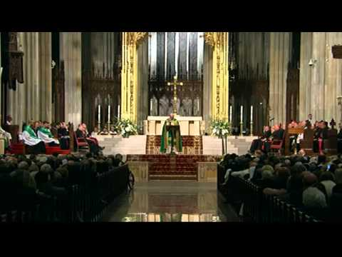 Pope Francis at New York City's St. Patrick Cathedral