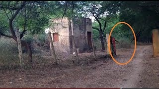 Repeat youtube video Ghost figure appeared and moves toward cabin. GHOST at forest check post?