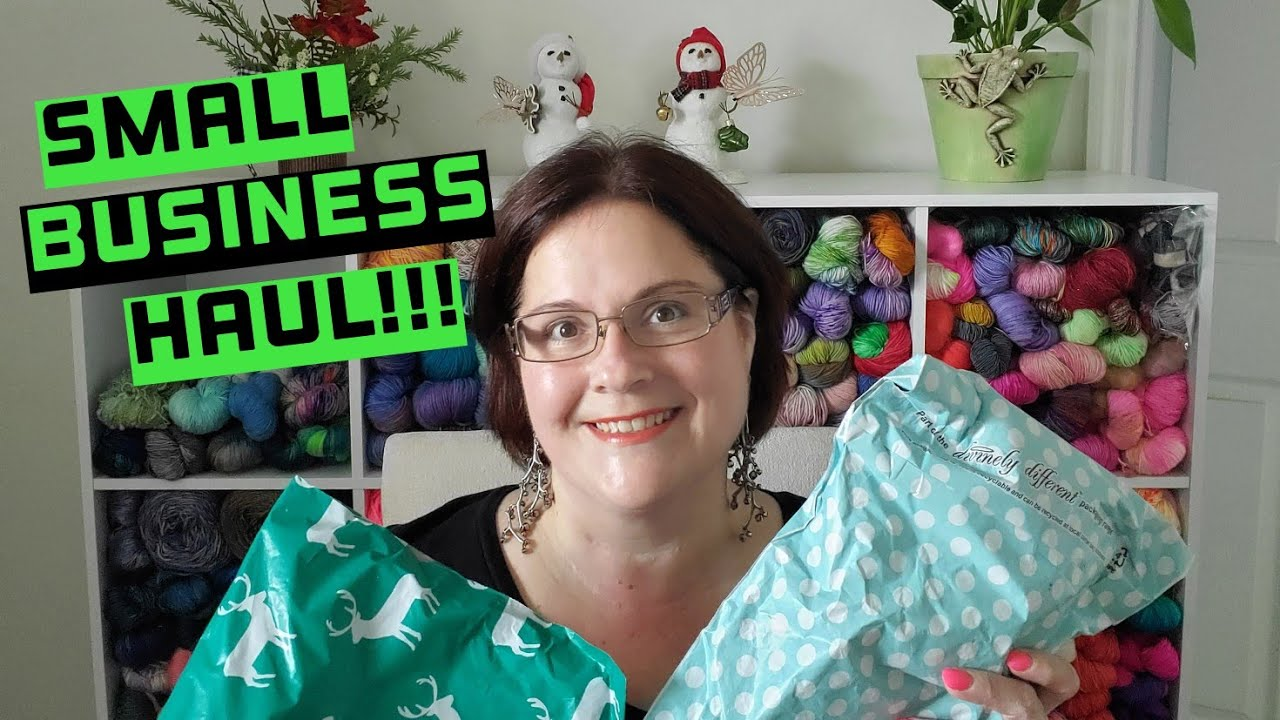 Small Business Haul Unboxing   Small Yarn Haul!!!
