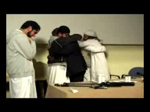 All are crying after a British man converts to Islam
