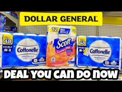 DOLLAR GENERAL | Deal You Can Do Now | Easy Paper Stock Up 🧻 🧻🧻 with our New Digital Coupon 🙌🏽